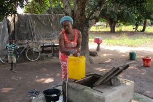 The Water Project: Tintafor, Officer's Quarters Community -  Alternative Water Source