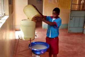 The Water Project: ADC Chanda Primary School -  Hand Washing Station