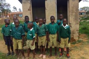 The Water Project: Kalenda Primary School -  Boys At Latrines