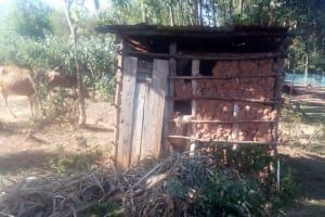 The Water Project: Bumavi Community, Shoso Mwoga Spring -  Latrine