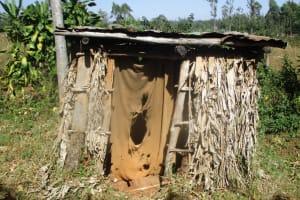 The Water Project: Eluhobe Community, Amadi Spring -  Latrine