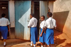 The Water Project: Matende Girls High School -  Showing Us The Latrines