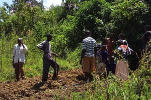 The Water Project: Emarembwa Community, Nyangweso Spring -  Starting Construction Work
