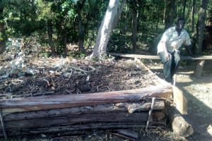 The Water Project: Bumavi Community, Shoso Mwoga Spring -  Good Compost Pit