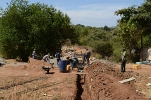 The Water Project: Katitu Community A -  Sand Dam Construction