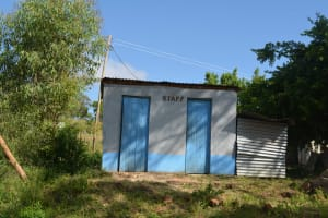 The Water Project: AIC Mutulani Secondary School -  Staff Latrines