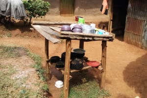 The Water Project: Shitaho Community, Andrea Kong'o Spring -  Dish Rack