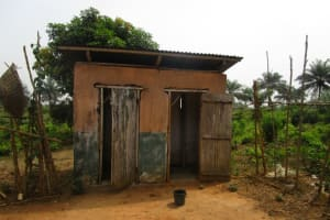 The Water Project: DEC Primary School -  Sierraleone Teacher Quarters Toilet