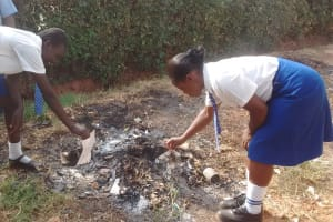 The Water Project: Matende Girls High School -  Burning Waste