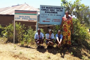 The Water Project: St. Marygoret Girls Secondary School -  Headmaster And Students
