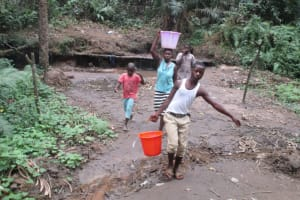 The Water Project: Petifu Junction Community -  Carrying Water