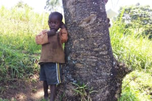 The Water Project: Emarembwa Community, Nyangweso Spring -  Another Child Waits For His Siblings
