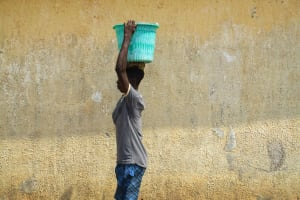 The Water Project: Tintafor, Police Barracks C-Line Community -  Carring Water