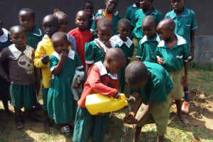 The Water Project: Kalenda Primary School -  Demonstrating Hand Washing
