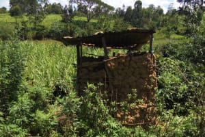 The Water Project: Emarembwa Community, Nyangweso Spring -  Latrines