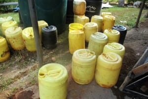 The Water Project: Digula Secondary School -  Water Storage At Kitchen