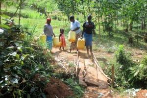 The Water Project: Mutambi Community, Kivumbi Spring -  To The Spring