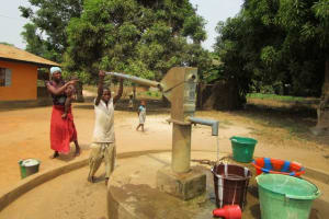 The Water Project: Malokoh Community, #4 Mabesseneh Road -  Seasonal Well With Water