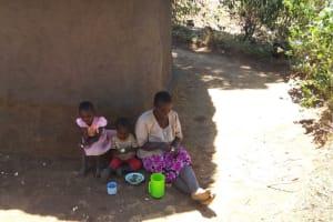 The Water Project: Shitaho Community, Mwikholo Spring -  Enjoying Cassava