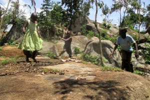The Water Project: Mahanga Community -  Children Playing Around The Spring