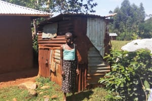 The Water Project: Shitaho Community B, Isaac Spring -  Local Latrine