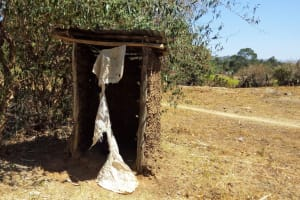 The Water Project: Shitaho Community, Mwikholo Spring -  Latrine