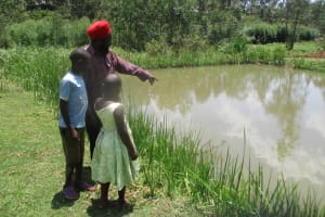 The Water Project: Mahanga Community -  Mr Vidija And His Fish Ponds