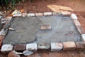 The Water Project: Emabungo Community, Bondeni Spring -  Sanitation Platform Construction