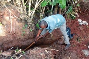 The Water Project: Munzakula Community, Musonye Spring -  Construction