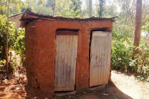 The Water Project: Shitoto Community, Abraham Spring -  Latrine