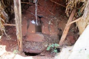 The Water Project: Mahanga Community -  Inside Latrine