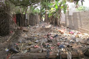 The Water Project: Malokoh Community, #4 Mabesseneh Road -  Garbage Pile