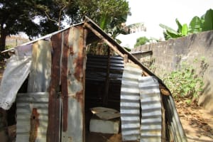 The Water Project: Sumbuya Community, Quarry Road -  Tiolet Outside