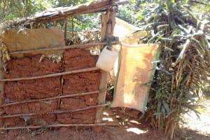 The Water Project: Wanzuma Community, Wanzuma Spring -  Latrine