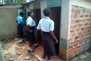 The Water Project: Friends Secondary School Shamakhokho -  Girls Latrines
