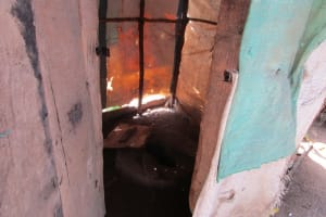 The Water Project: Rogbere Community -  Latrine Inside
