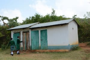 The Water Project: Muthei Secondary School -  Girls Latrines
