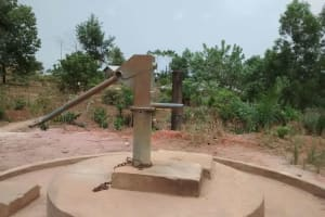 The Water Project: Sumbuya Community, Quarry Road -  Same Well During Dry Season