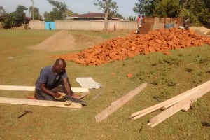 The Water Project: Rosterman Secondary School -  Latrine Doors