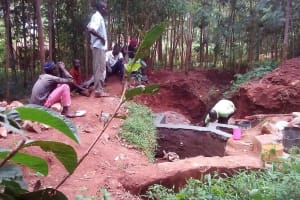 The Water Project: Emabungo Community, Bondeni Spring -  Construction