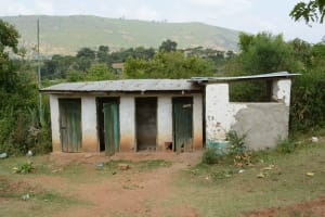 The Water Project: Muthei Secondary School -  Boys Latrines