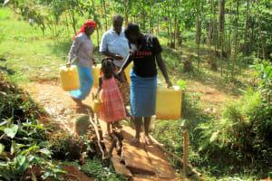 The Water Project: Mutambi Community, Kivumbi Spring -  Walking To The Spring