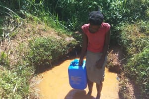 The Water Project: Shitaho Community B, Isaac Spring -  Fetching Water