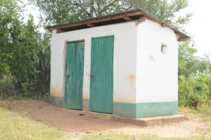The Water Project: Muthei Secondary School -  Teachers Toilets