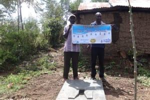 The Water Project: Shitungu Community, Suleiman Spring -  Sanitation Platform