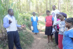 The Water Project: Murumba Community, Muyokani Spring -  Community Members Talking About Their Water