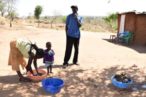 The Water Project: Maluvyu Community A -  Washing Clothes