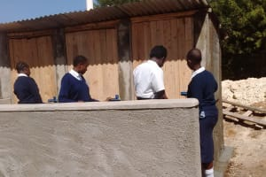 The Water Project: Rosterman Secondary School -  Finished Latrines