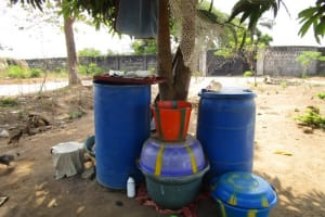 The Water Project: Sumbuya Community, Quarry Road -  Water Storage