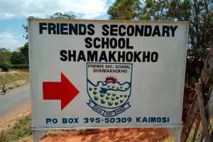 The Water Project: Friends Secondary School Shamakhokho -  School Entrance